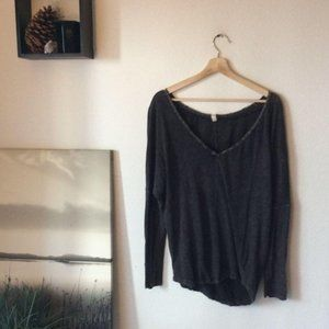 We The Free Charcoal Long Sleeved Top
